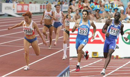 2006 European Championships - women's race (L), men's race (R)