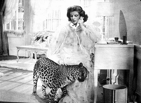 Kate Hepburn in Bringing Up Baby