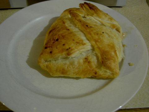 An individual serve of Beef Wellington
