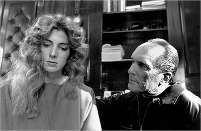Natasha Richardson and Robert Duvall in The Handmaid's Tale