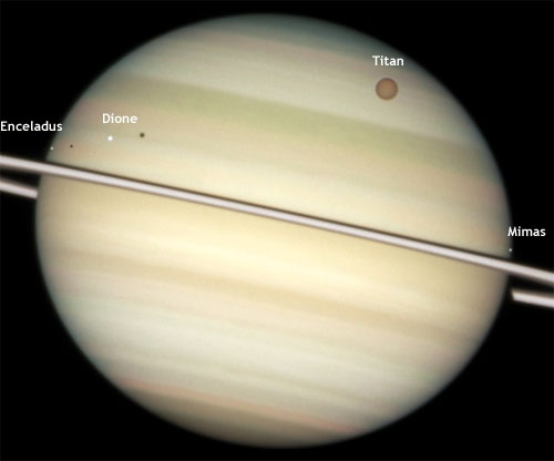 4 moons of Saturn