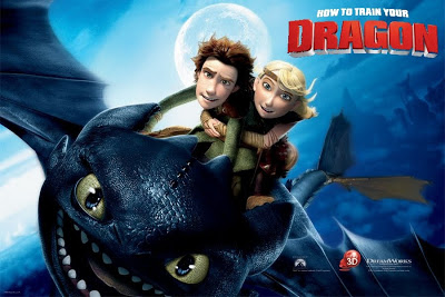 Hiccup and Astrid riding Toothless