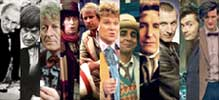 A montage of the eleven incarnations of Doctor Who