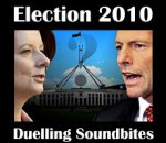 Julia Gillard and Tony Abbott face off in front of Australian Parliament House