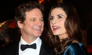 Colin Firth with partner Livia Giuggioli at the 2011 BAFTA awards