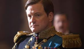Colin Firth in naval dress uniform for the part of King George VI