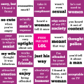 5x5 sexist joke bingo card