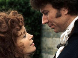 Ross and Demelza in a tender moment from Poldark