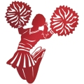 Stylised silhouette of a cheerleader