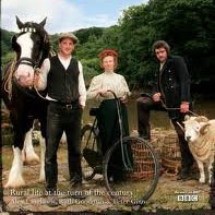 the cover of the DVD for the documentary show Edwardian Farm