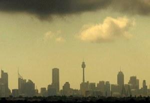 smog blankets Sydney's CBD skyline