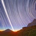 sun and star trails photographed over the equator at Ecuador