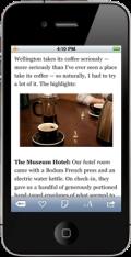 Screenshot of Instapaper iPhone app