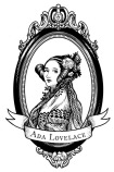 Ada Lovelace woodcut engraving-style portrait
