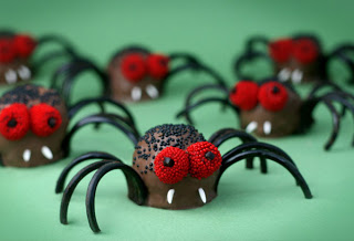 tasty Halloween spider-shaped treats