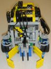 Front view of lego line-following robot