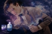 A promo picture of Matt Smith wreathed in smoke or mist for Doctor Who