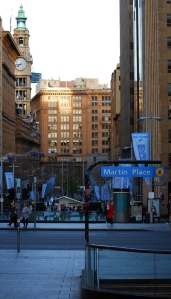 Photograph of Martin Place in Sydney, looking west