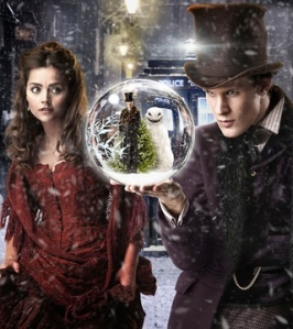 "promotional image from the BBC for the 2012 Doctor Who Christmas Special ""The Snowmen"""