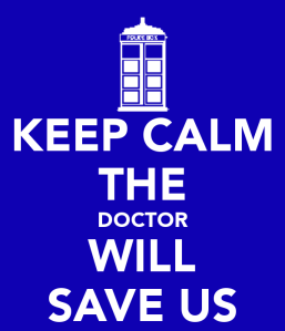 A Keep Calm Poster Graphic - the logo is the tardis