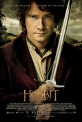 The Hobbit movie poster, showing Bilbo with a drawn blade