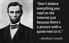 A photo of Abraham Lincoln used for a text macro
