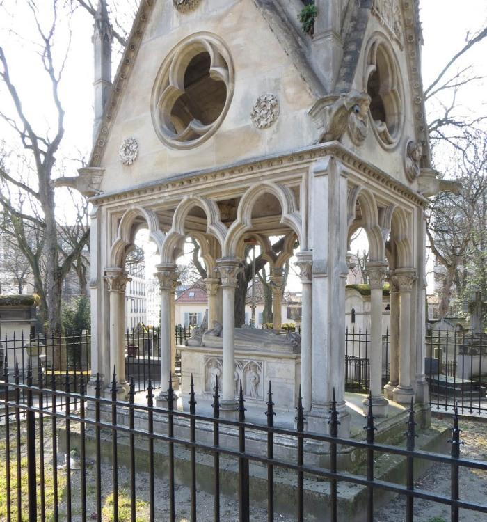 Tomb of Abelard and Heloise.