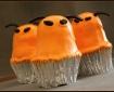 Orange alien cupcakes