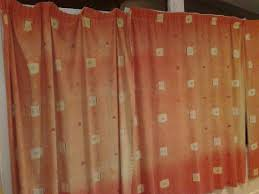 faded curtains