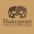 Logo showing two skulls facing opposite directions. Text: Shakespeare TwentyScore