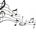 clipart of music notes in black and white